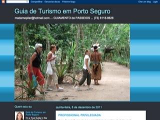 panfleto Pilar Vildosola - Guia de Turismo em Porto Seguro