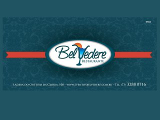 panfleto Belvedere Restaurante