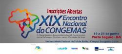 panfleto XIX° Congresso Nacional da CONGEMAS