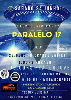 panfleto Electronic Party - Paralelo 17