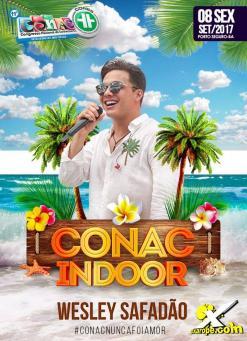 panfleto Conac Indoor - Wesley SAFADÃO
