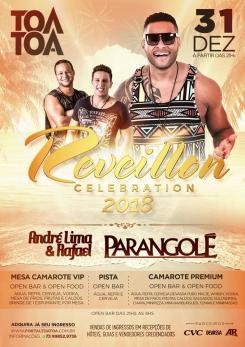 panfleto Reveillon Tôa-Tôa - PARANGOLÉ + André Lima & Rafael