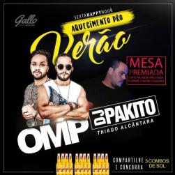 panfleto Happy Hour - Grupo OMP + Dj Pakito