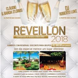 panfleto Reveillon Dourado 2018