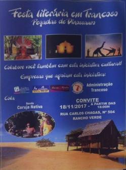 panfleto Festa Literária em Trancoso - Pegada do Dinossauro