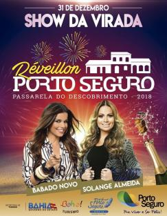panfleto Réveillon Porto Seguro - BABADO NOVO + SOLANGE ALMEIDA