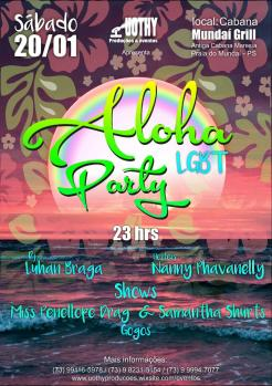 panfleto Aloha LGBT Party