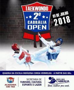 panfleto 2° Cabrália Open de Taekwondo