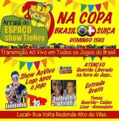 panfleto Arraiá do Tio Ney -Juninho Top 10 + Folinha Verde