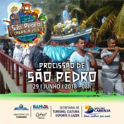 panfleto Procissão de São Pedro