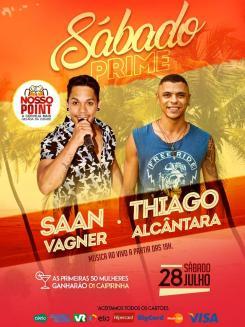 panfleto Sábado Prime - Saan Vagner & Thiago Alcântara