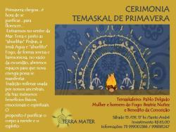 panfleto Cerimonia Temaskal de Primavera
