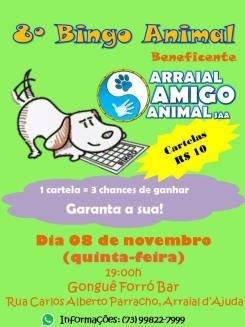 panfleto 8° Bingo Animal