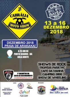 panfleto 2° Cabrália Moto Show - Bye Bye Bahia 2018