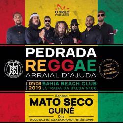 panfleto Pedrada Reggae
