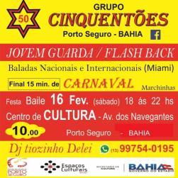 panfleto Cinquentões - Baile Flash back e Jovem Guarda