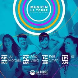 panfleto Music'n La Torre 2019 - Tiê