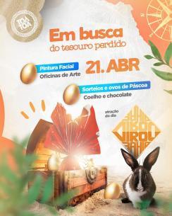 panfleto Virou Bahia - Em busca do tesouro perdido