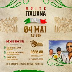 panfleto Noite Italiana