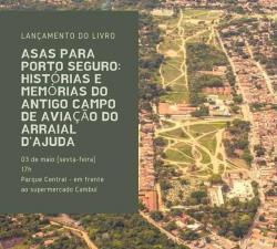 panfleto Lançamento do livre 'Asas para Porto Seguro'
