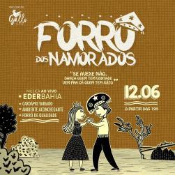 panfleto Forró dos Namorados - Eder Bahia