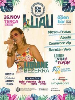 panfleto Luau Tôa Tôa - Lidiane Bezerra