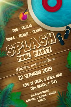 panfleto Splash Pool Party