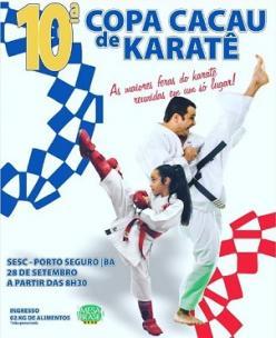 panfleto 10ª Copa Cacau de Karatê