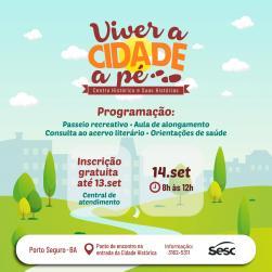 panfleto Projeto Viver a Cidade a Pé