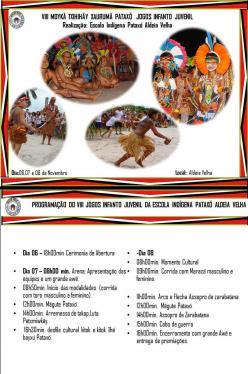 panfleto VIII° Moykã Txhihãy Xaurumã Pataxó - Jogos Infanto Juvenil