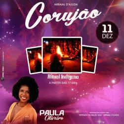 panfleto Paulla Oliveira + Ritual indígena Pataxó da Lua Cheia