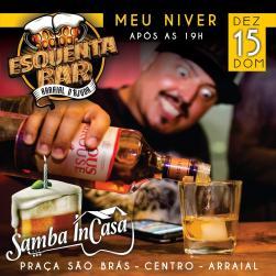 panfleto Samba InCasa - Niver do Tiago