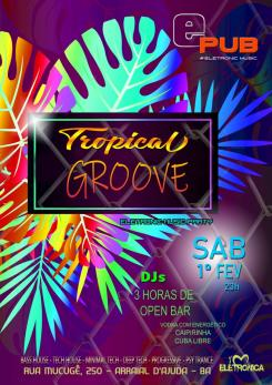 panfleto Tropical Groove