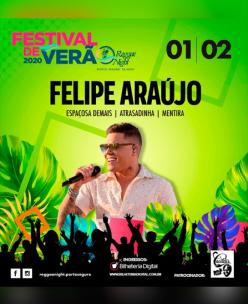 panfleto Festival de Verão da Reggae Night - FELIPE ARAÚJO