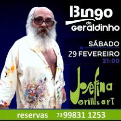 panfleto Bingo do Geraldinho
