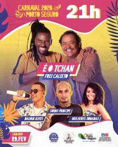 panfleto Carnaval Porto Seguro 2020 - É O TCHAN
