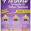 panfleto 4° Torneio Sensação de Futsal Feminina