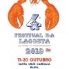 panfleto  4° Festival da Lagosta da Costa do Descobrimento