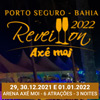 panfleto Réveillon Axé Moi 2022 - Marília Mendonça + 1 Atração