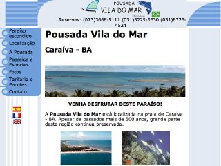 panfleto Pousada Vila do Mar
