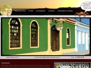 panfleto Hotel Recanto do Sol