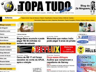 panfleto Jornal Topa Tudo