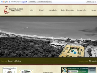 panfleto Porto das Naus Praia Hotel