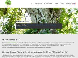 panfleto Coletivo Verdejar -Um milhão de árvores na Costa do Descobrimento